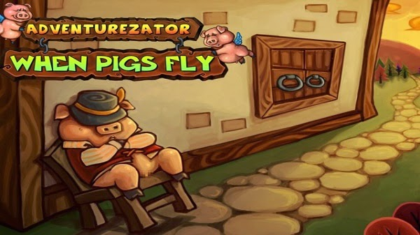 Adventurezator When Pigs Fly on steam greenlight for PC Mac and Linux