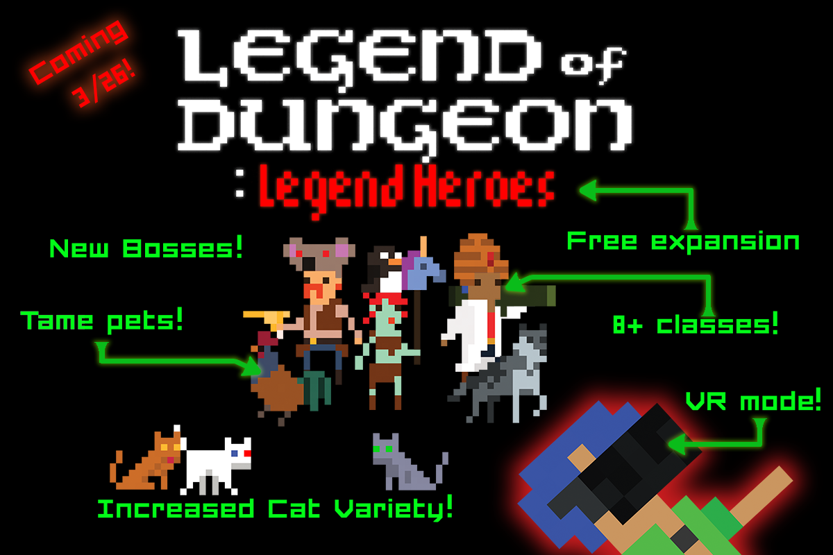 Legend of Dungeon:Legend Heroes expansion hits Linux, Mac and Windows PC on March 26th