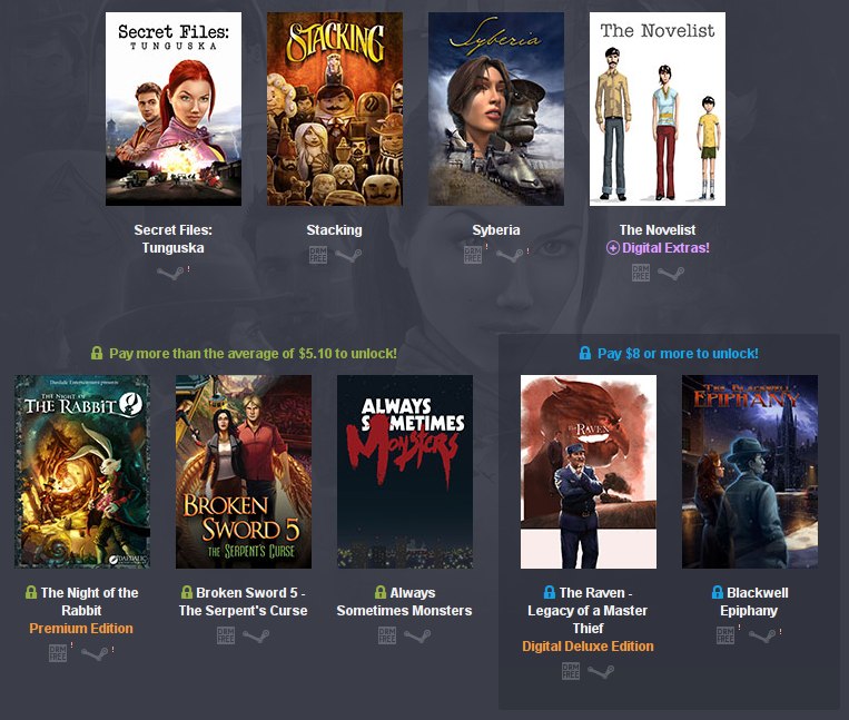 Humble Weekly Bundle: Adventures 2 games for Linux, Mac and Windows