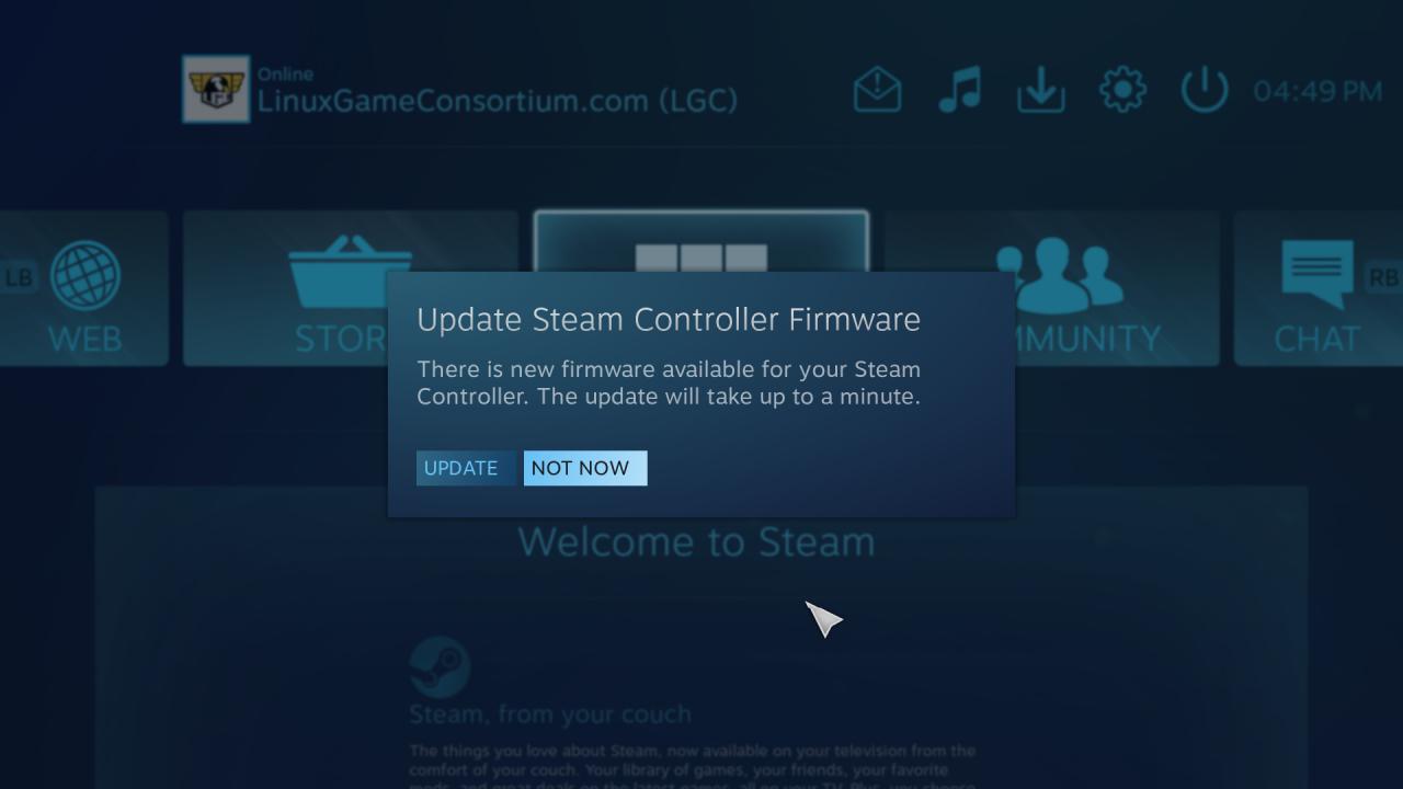 steam controller pre-release first impressions in linux windows firmware update