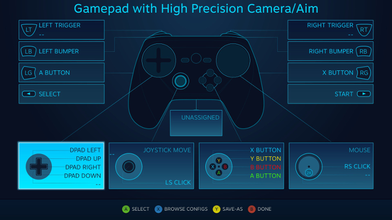 steam controller pre-release first impressions in linux windows games bottom mapping