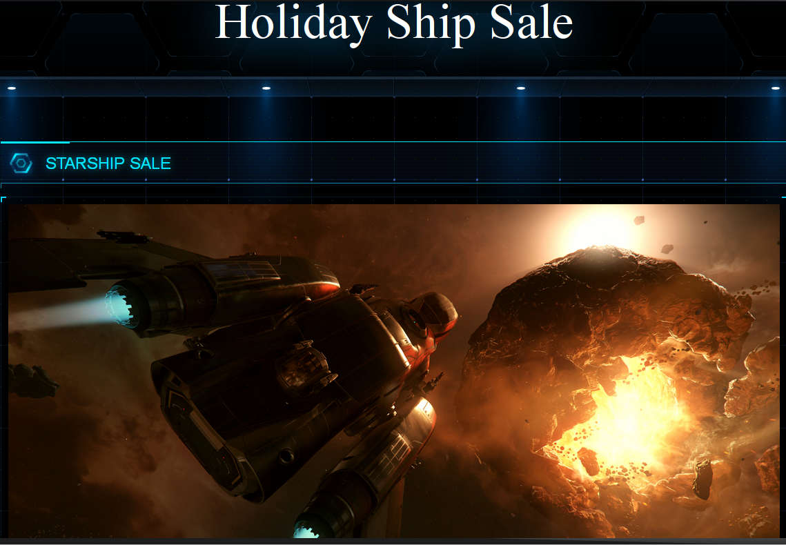 Holiday Ship Sale available now as a Star Citizen promo
