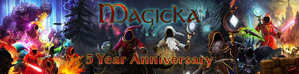 Paradox Interactive invites you to the Magicka 5 Year Anniversary Sale!