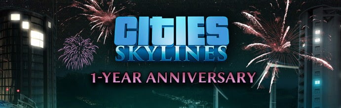 Cities: Skylines celebrates one Year with a new Video Tribute and upcoming update