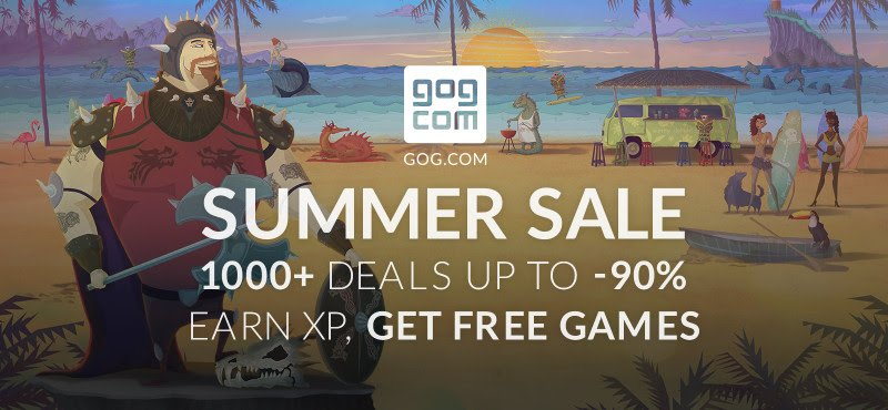 The GOG.com 2016 Summer Sale launches with more than 1,000 Deals and Free Games